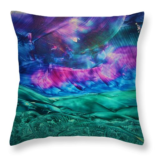 Desert Throw Pillow featuring the print Sierra Vista by Melinda Etzold