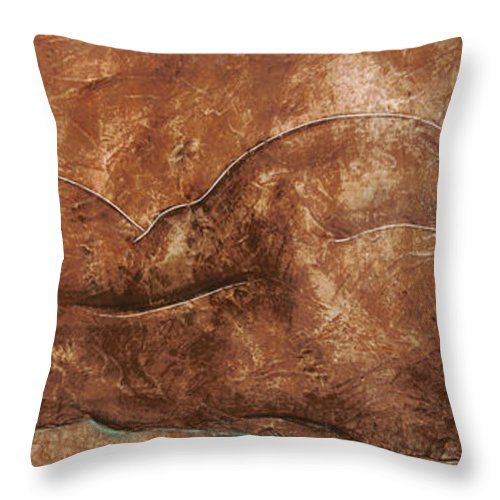 Nude Throw Pillow featuring the painting Siesta by Richard Hoedl