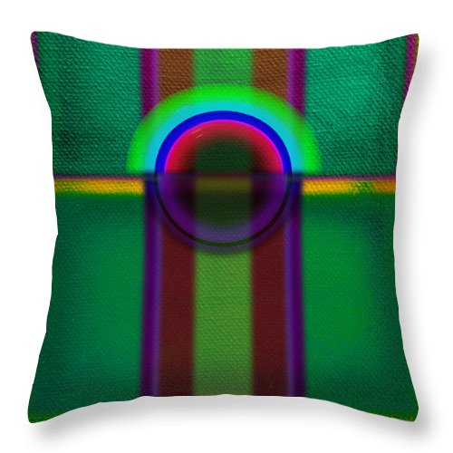 Portal Throw Pillow featuring the painting Sign by Charles Stuart