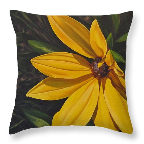 Wildflower Throw Pillow featuring the painting Sign Of Summer by Hunter Jay