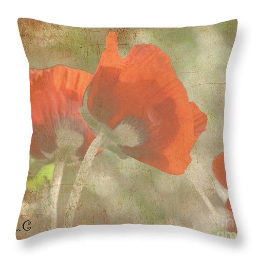 Poppy Throw Pillow featuring the photograph Silent Dancers by Traci Cottingham