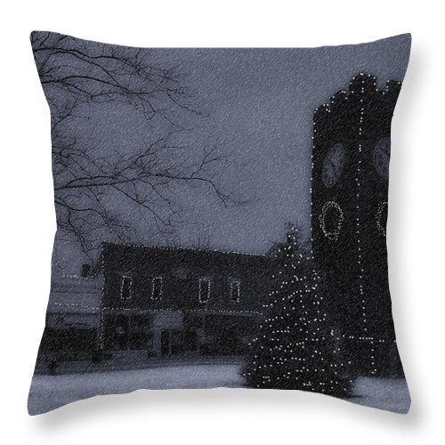 Night Throw Pillow featuring the photograph Silent Night by Kenneth Krolikowski