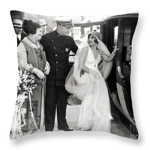 -weddings & Gowns- Throw Pillow featuring the photograph Silent Still: Do Your Duty by Granger