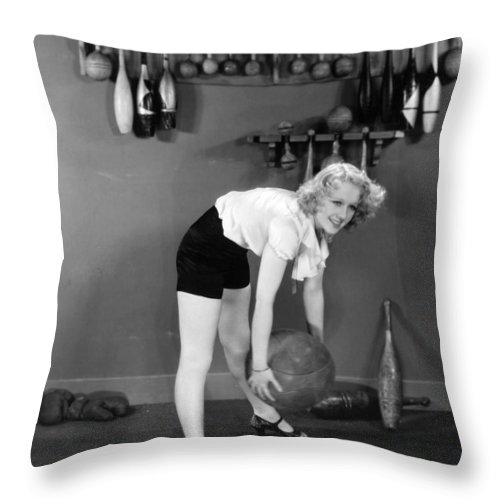 -weight & Exercise- Throw Pillow featuring the photograph Silent Still: Exercise by Granger