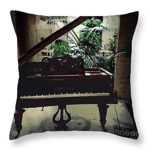 Baby Grand Throw Pillow featuring the painting Silent Symphony by RC DeWinter