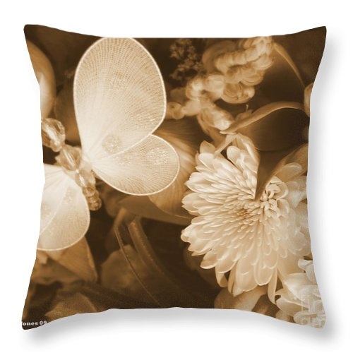 Photography Enhanced Throw Pillow featuring the photograph Silent Transformation Of Existence by Shelley Jones
