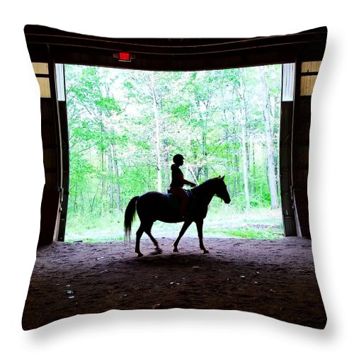Horse Throw Pillow featuring the photograph Silhouette by Jo Stone