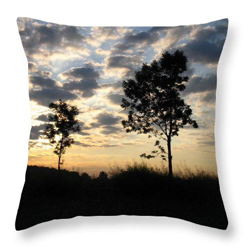 Landscape Throw Pillow featuring the photograph Silhouette by Rhonda Barrett