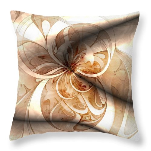 Digital Art Throw Pillow featuring the digital art Silk by Amanda Moore