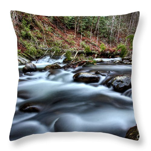 River Throw Pillow featuring the photograph Silky Smooth by Douglas Stucky
