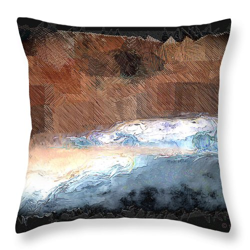 Ebsq Throw Pillow featuring the photograph Silver Beach by Dee Flouton