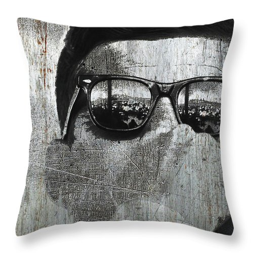President Throw Pillow featuring the mixed media Camelot by Tony Rubino