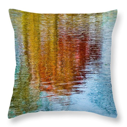 Silver Throw Pillow featuring the photograph Silver Lake Autumn Reflections by Michael Bessler