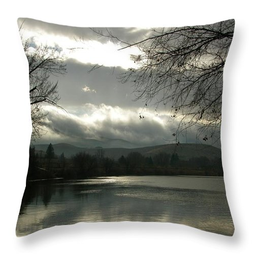 Prosser Throw Pillow featuring the photograph Silver River by Carol Groenen