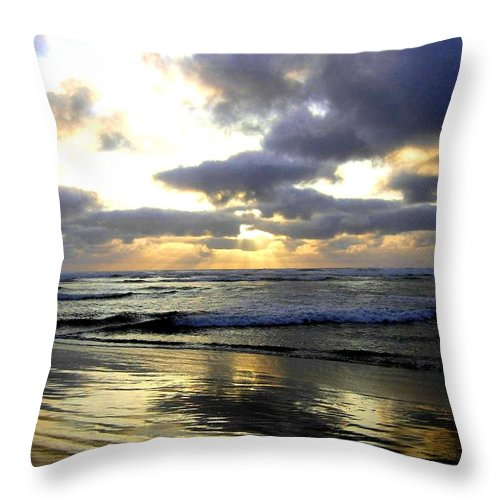 Sunset Throw Pillow featuring the photograph Silver Shores by Will Borden