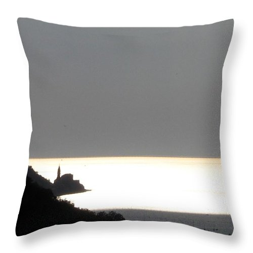 Sunset Throw Pillow featuring the photograph Silvery by Dragica Micki Fortuna