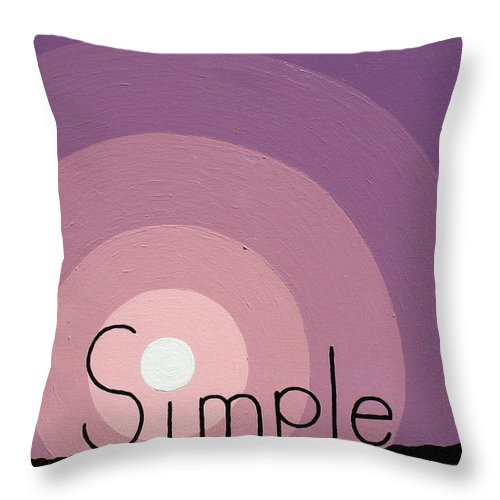 Inspirational Throw Pillow featuring the painting Simple by Jaison Cianelli