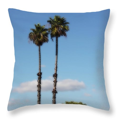 Palm Throw Pillow featuring the photograph Simple Palms by Arline Wagner