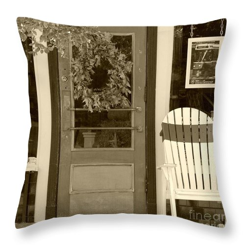 Rocking Chair Throw Pillow featuring the photograph Simple Times by Debbi Granruth