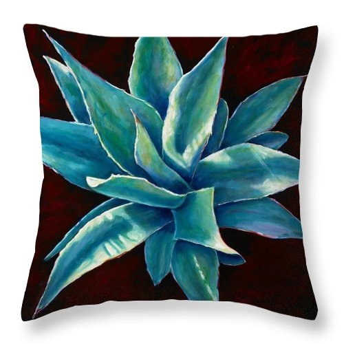 Agave Throw Pillow featuring the painting Simply Succulent by Shannon Grissom