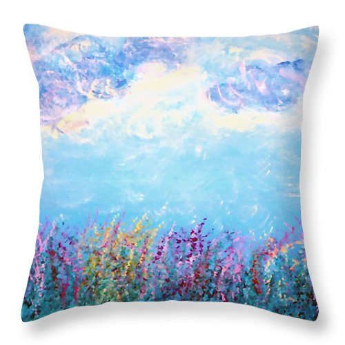 Summer Throw Pillow featuring the painting Simply Summer by Donna Proctor