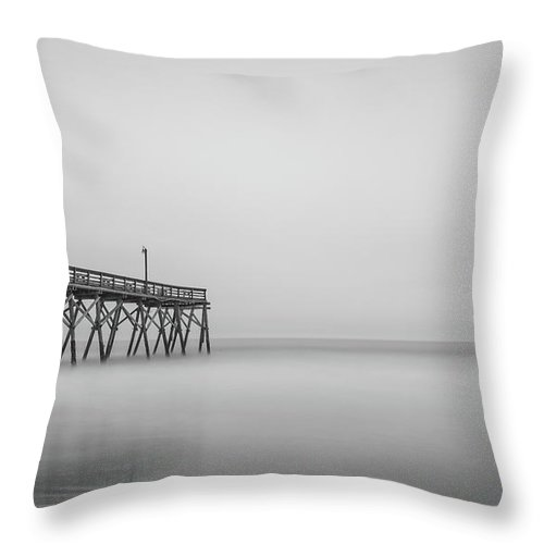 Long Exposure Throw Pillow featuring the photograph Simply Surfside by Charles Lawhon