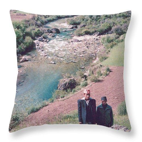 Nepal Throw Pillow featuring the photograph Singa Raja by Omar Shafey