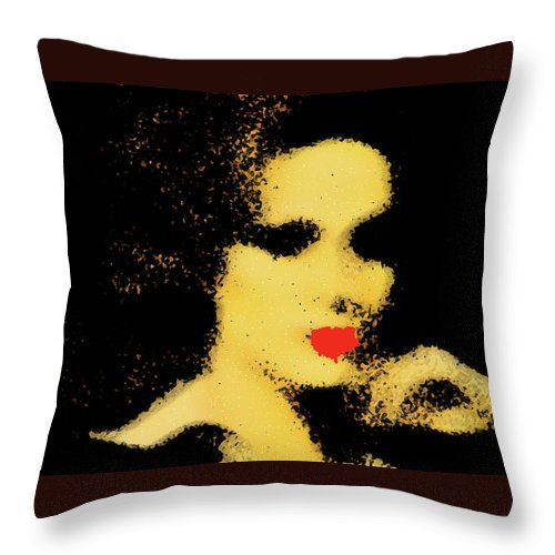 Abstract Throw Pillow featuring the photograph Sinthia by The Artist Project