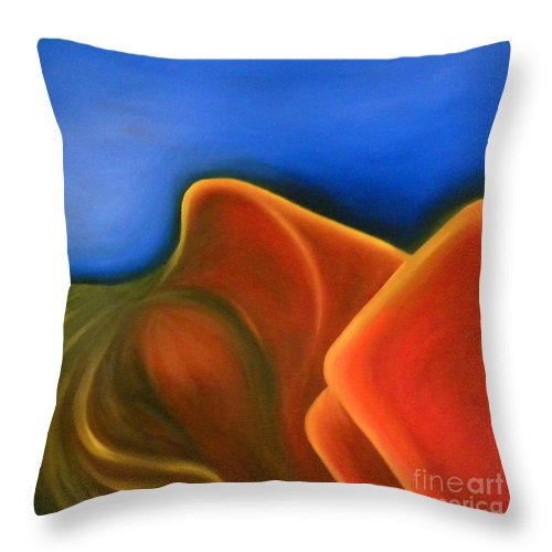Woman Paintings Throw Pillow featuring the painting Sinuous Curves Iv by Fanny Diaz