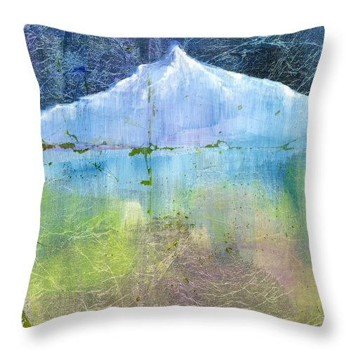 Oil Throw Pillow featuring the painting Sisters 1 Bend Oregon by Patt Nicol