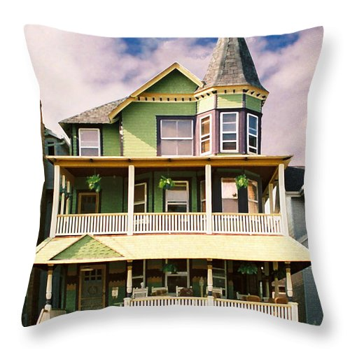 Archtiecture Throw Pillow featuring the photograph Sisters Panel 1 Of Triptych by Steve Karol