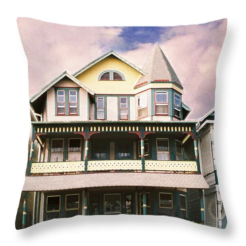 Landscape Throw Pillow featuring the photograph Sisters Panel Three Of Triptych by Steve Karol