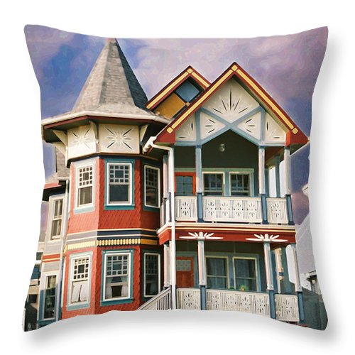 Landscape Throw Pillow featuring the photograph Sisters Panel Two Of Triptych by Steve Karol