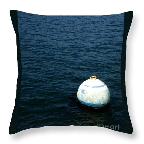 Seascape Throw Pillow featuring the photograph Sit And Bounce by Shelley Jones