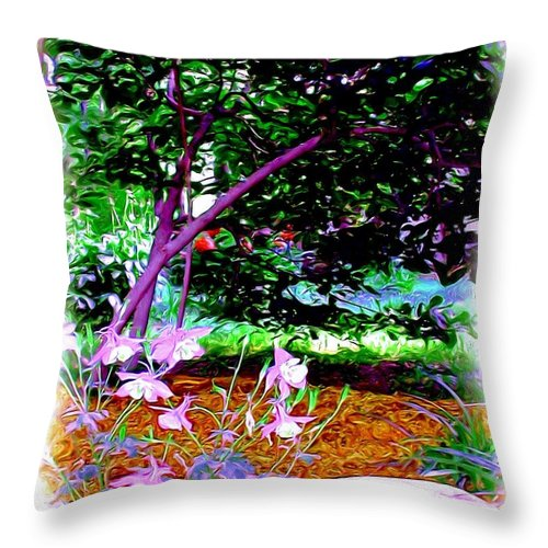 Fine Art Throw Pillow featuring the painting Sitting In The Shade by Patricia Griffin Brett
