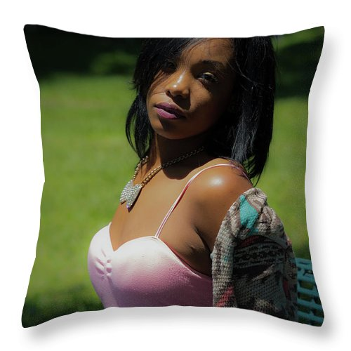 People Throw Pillow featuring the photograph Sitting Pretty by JB Thomas