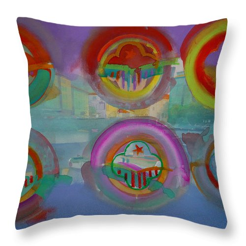 Landscape Throw Pillow featuring the painting Six Visions Of Heaven by Charles Stuart