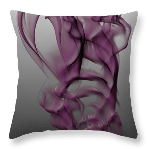 Clay Throw Pillow featuring the digital art Skeletal Flow by Clayton Bruster