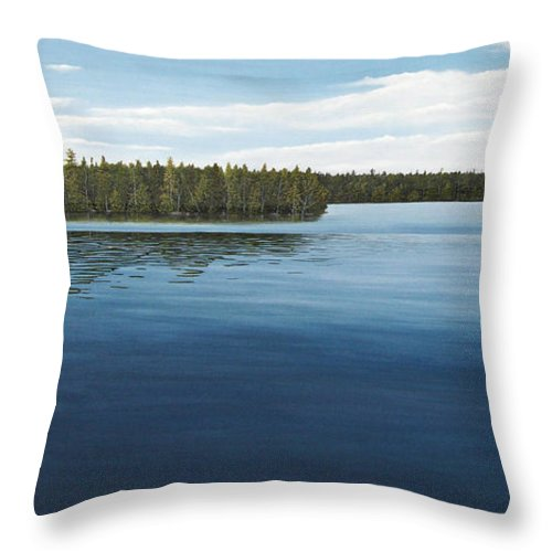 Landscapes Throw Pillow featuring the painting Skinners Bay Muskoka by Kenneth M Kirsch