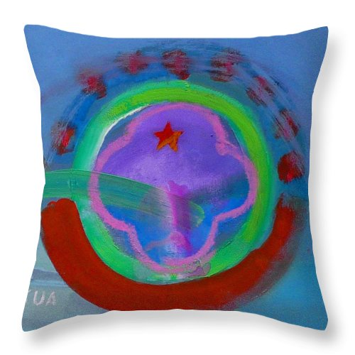 Love Throw Pillow featuring the painting Skua by Charles Stuart