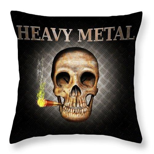 Skull Throw Pillow featuring the digital art Skull by Robert Ekeroth