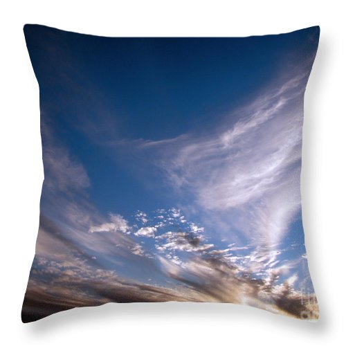 Skies Throw Pillow featuring the photograph Sky by Amanda Barcon