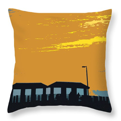 Fishing Pier Throw Pillow featuring the painting Sky And Pier by David Lee Thompson