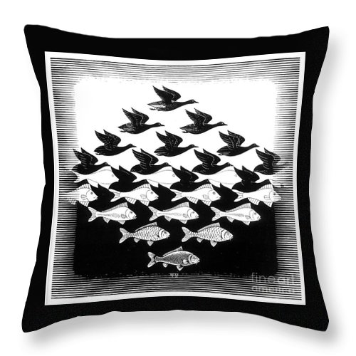 Sky And Water Throw Pillow For Sale By Mc Escher