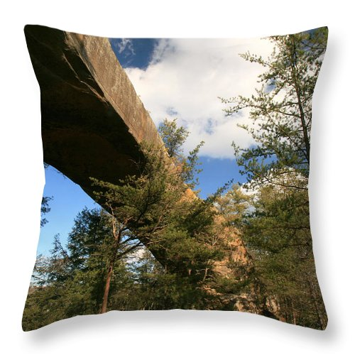 Landscape Throw Pillow featuring the photograph Sky Bridge by Amanda Kiplinger