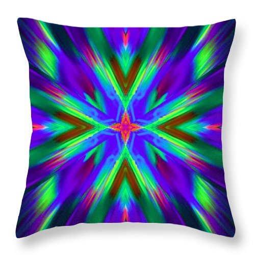 Lorles Lifestyles Throw Pillow featuring the digital art Sky Burst by Lorles Lifestyles