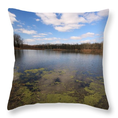 Landscape Throw Pillow featuring the photograph Sky Clouds Water by Amanda Kiplinger