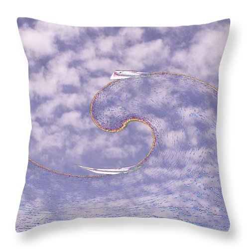 Sail Throw Pillow featuring the photograph Sky High Sail Surfin by Tim Allen