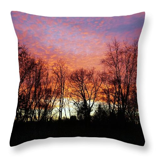 Sky Throw Pillow featuring the photograph Sky Of Fire by Red Cross