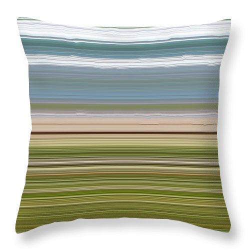 Lake Throw Pillow featuring the digital art Sky Water Earth Grass by Michelle Calkins